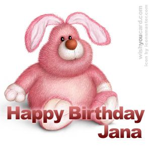 Happy Birthday Jana Best Wishes Tillykke
