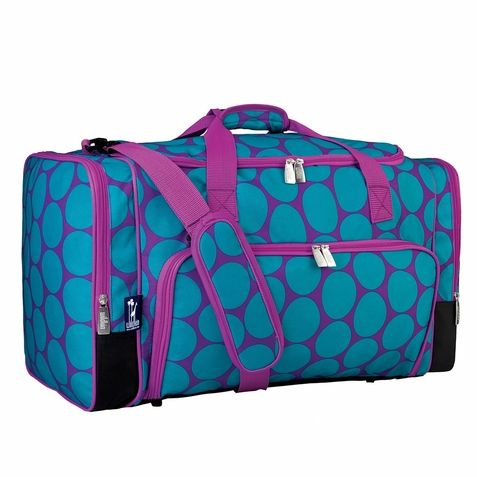 *TRAVEL*The holidays there are always filled with plenty of travel. Why not purchased a cute duffel bag for your daughter to store her clothes and traveling necessities?   http://www.sensoryedge.com/big-dot-aqua-weekender-duffel.html
