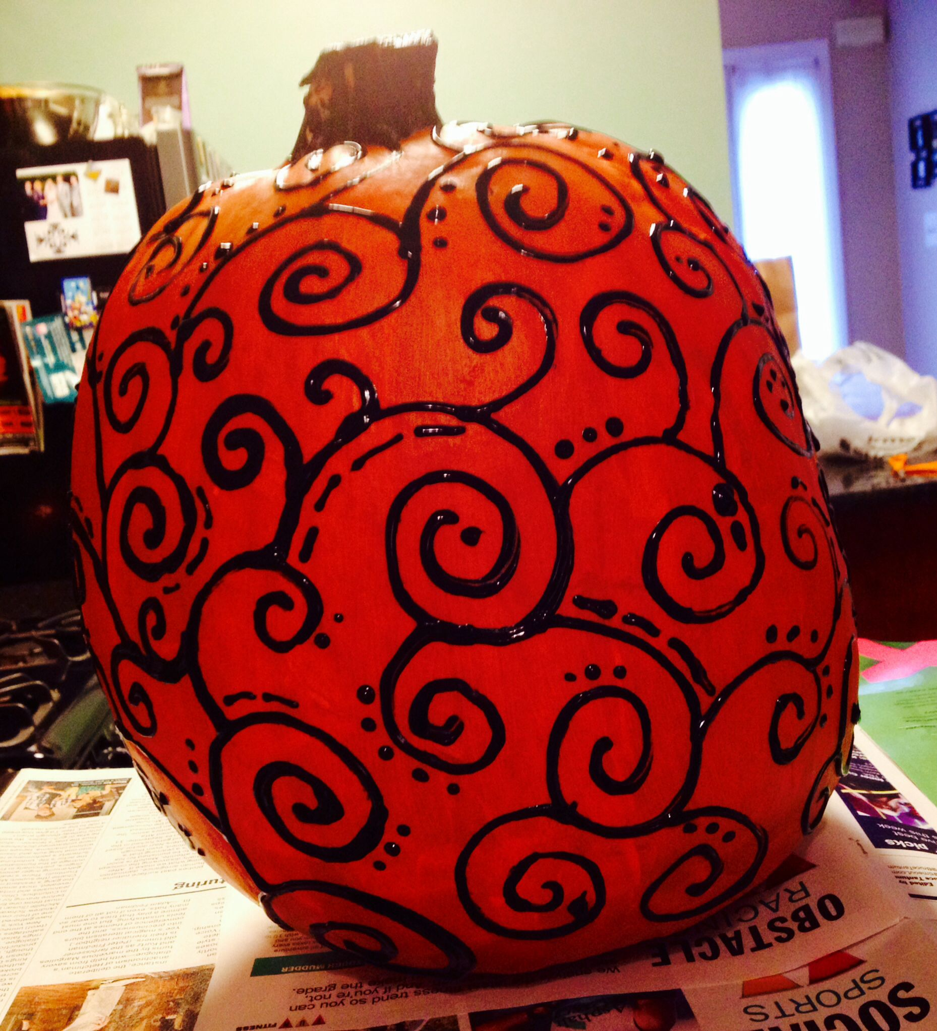 Puffy paint designs - Pumpkin Painting Puffy Paint Diy