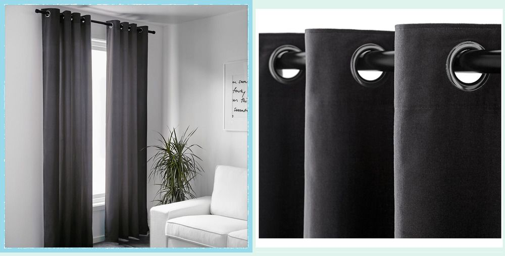 Ebay Sponsored Ikea Sanela Gray Charcoal 118 Drape Curtain 2