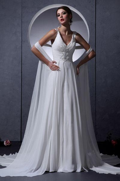 Weekly Special Product: Mantel / Spalte Riemen Weißen Brautkleid ...