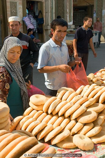 bread for sale at the market, Uighur, Turpan, Xinjiang, China | Alfred Molon