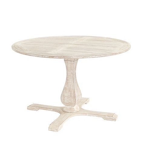 Ceylon Whitewash Round Pedestal Dining Table 48 Inch Ideas For