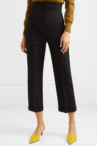 Cariño cropped crepe straight-leg pants