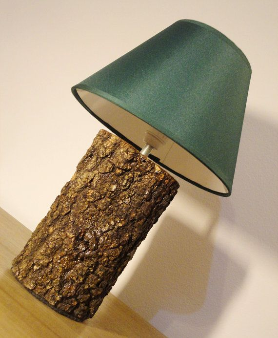 Caba a r stica natural abedul registro madera mesa noche - Lamparas de pie rusticas de madera ...