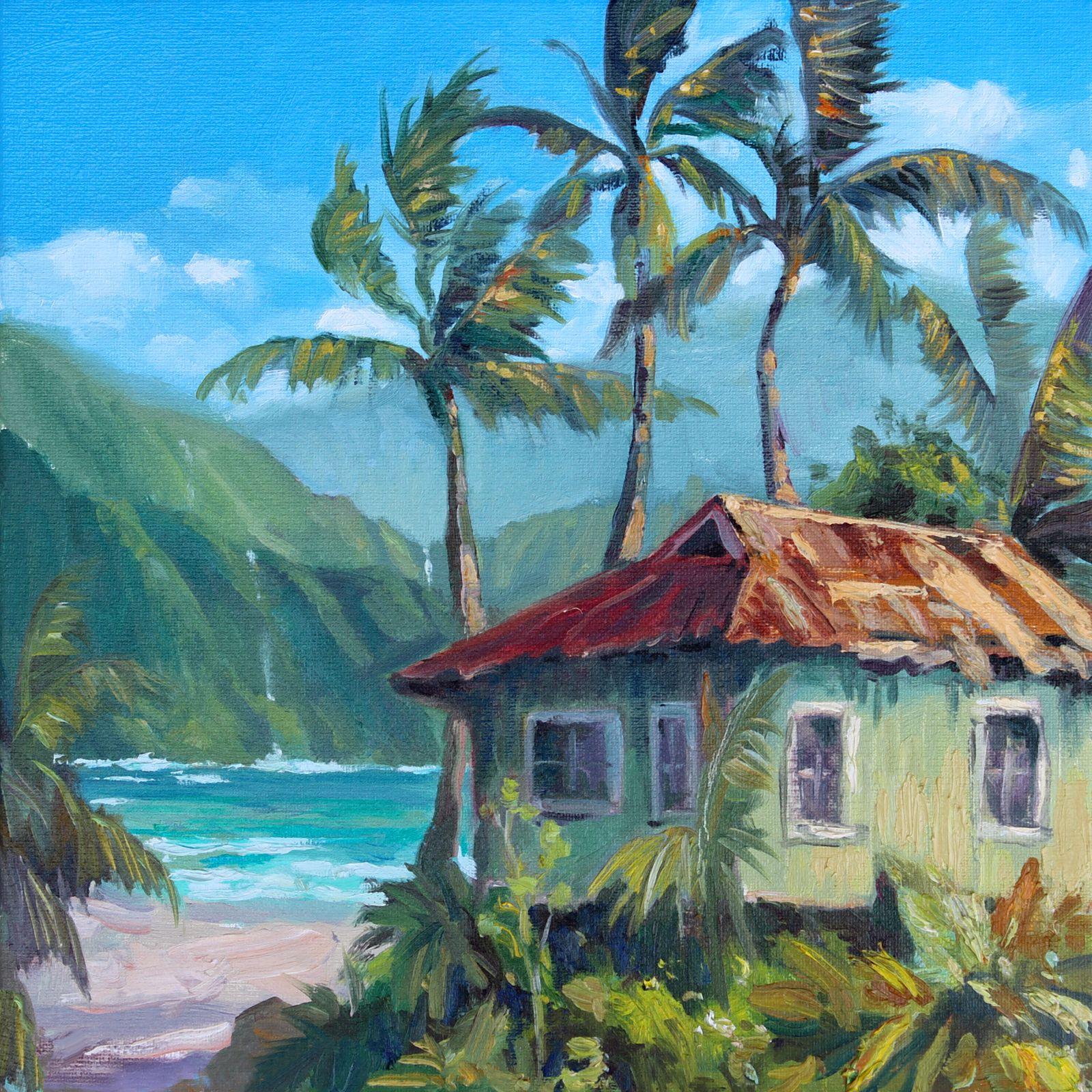 Old Hawaii Hawaii Painting Hawaii Art Island Art