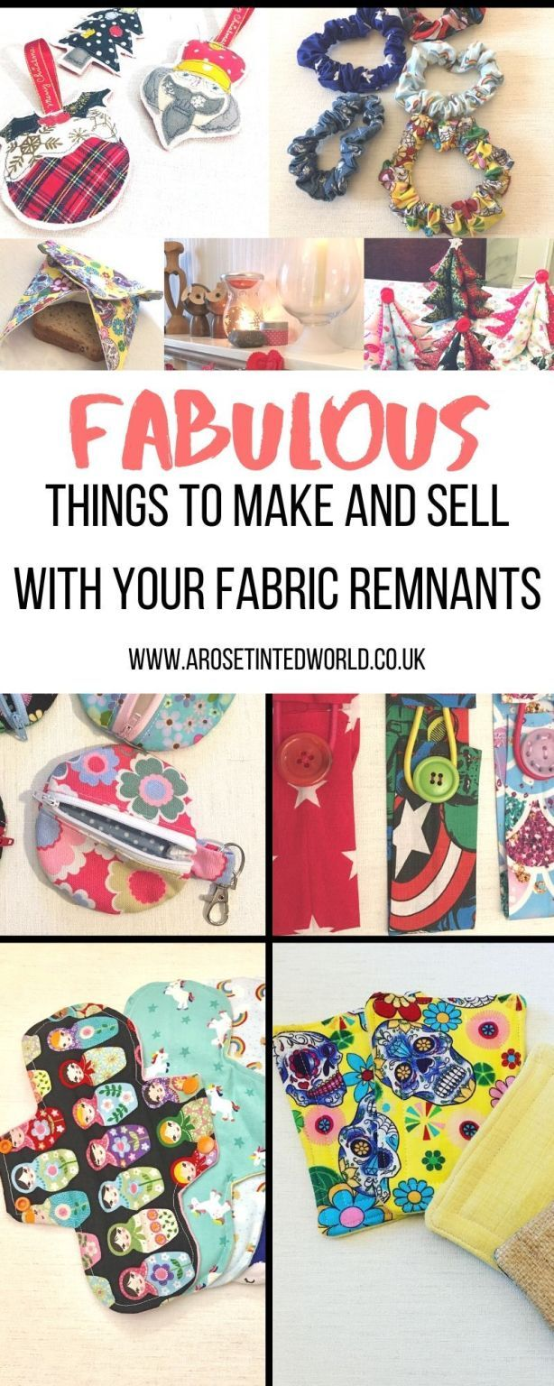 Fabric Scraps - How To Use Every Last Piece. ⋆ A Rose Tinted World -   18 fabric crafts to sell gift ideas