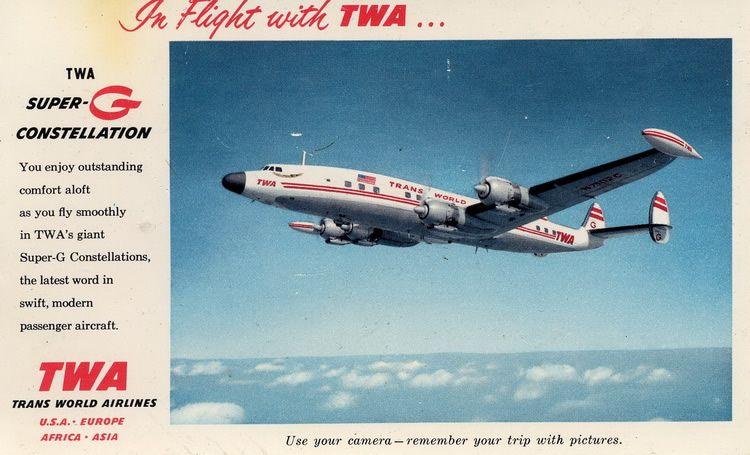 TWA VIntage Lockheed SuperG Constellation Aircraft