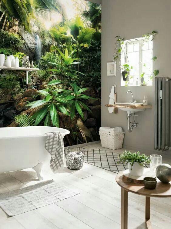 Natur- Fototapeten für das Badezimmer gehen immer Ideen rund ums - fototapete f r badezimmer