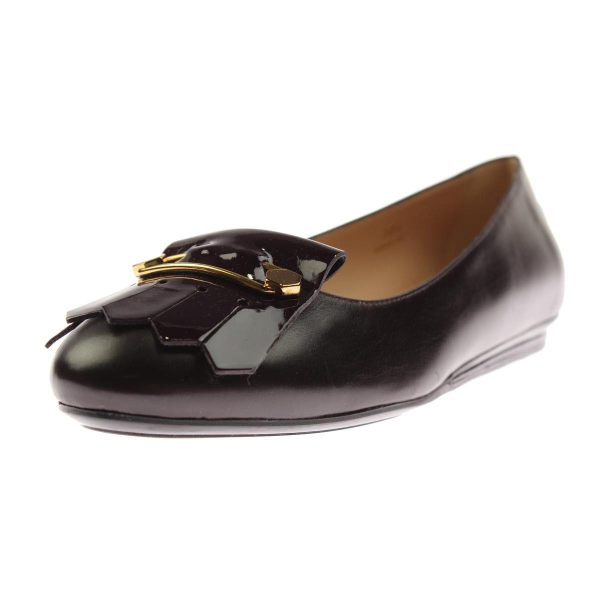 Tod's Womens Leather Kiltie Dress Shoes