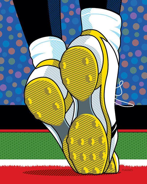 Santonio Holmes Toe Tap by Ron Magnes | Pop Art ☆ | Pinterest