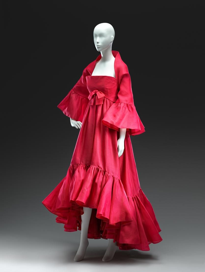 Evening Gown And Wrap Silk Cristobal Balenciaga Designer French 1963 Fashion Evening Gowns Haute Couture Designers