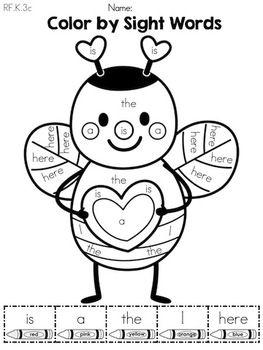 valentine 39 s day kindergarten language arts worksheets insectes et papillons pinterest. Black Bedroom Furniture Sets. Home Design Ideas