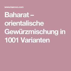Baharat – orientalische Gewürzmischung in 1001 Varianten