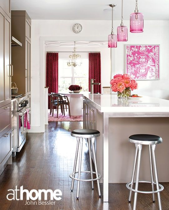 A pop of pink with vintage art | Home decoration | Pinterest ...