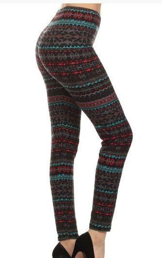 Fall Fashion Striped Leggings