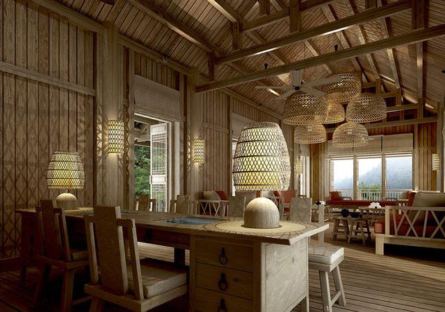 reception six senses qing cheng mountain opening 2015 hotel lobbyspa interiorrustic - Rustic Hotel 2015