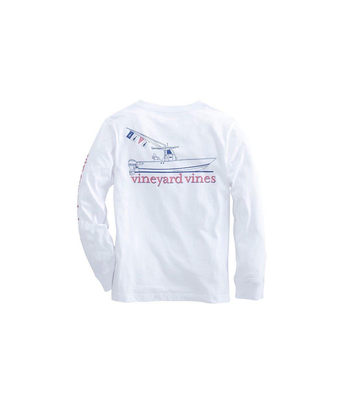 1ad8cd5a5 Boys Long-Sleeve Sportfisher Pocket T-Shirt by Vineyard Vines Size 8 small
