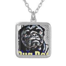 Pug Dog Champion Square Pendant Necklace Unique Items Products Square Pendant Dream Gift