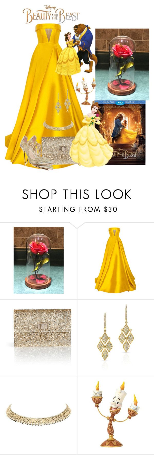 """Beauty and the Beast"" by mozzy18 ❤ liked on Polyvore featuring Disney, Alex Perry, Anya Hindmarch, Anne Sisteron, Oscar de la Renta, BeautyandtheBeast and contestentry"