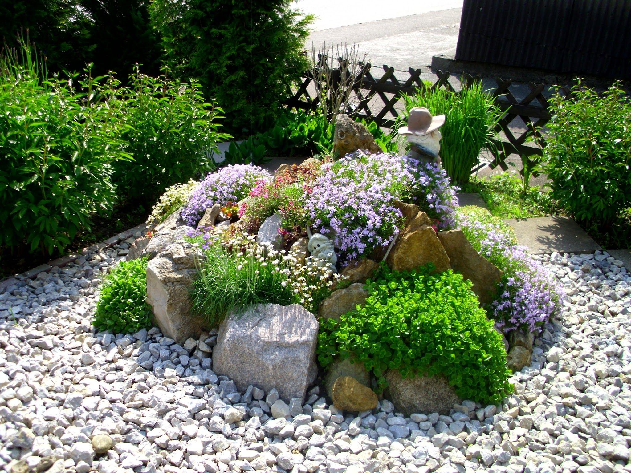 Rock garden idea | Backyard garden design, Backyard garden ... on Small Garden Ideas With Rocks id=51461