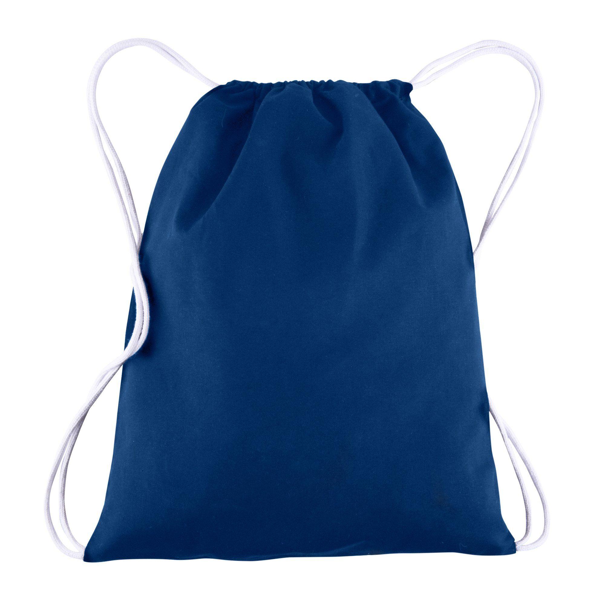Cotton Canvas Drawstring Backpacks Bags 12 Pack Bulk