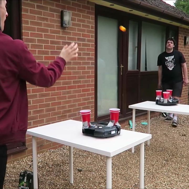 i need to play roomba beer pong this looks insanely good