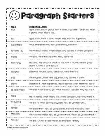 Paragraph Prompts | teach | Pinterest