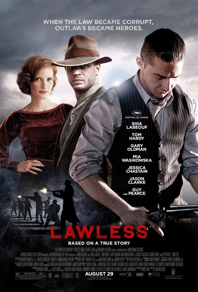 "Check out the brand new ""Lawless"" poster from The"