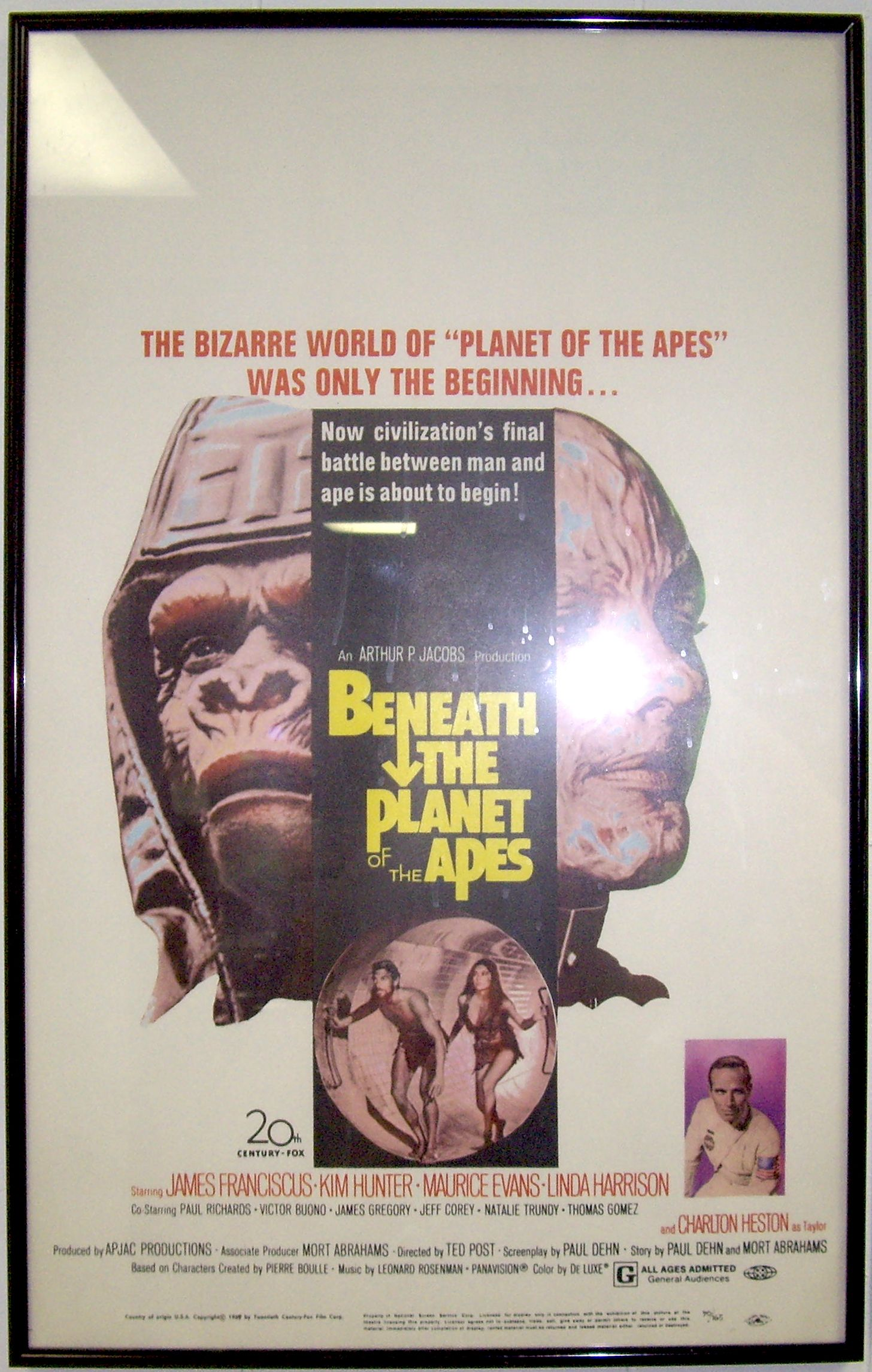 Beneath The Planet Of The Apes 1970 One Sheet Owned By Collector Bob Bekian Planet Of The Apes Linda Harrison Vintage Toys