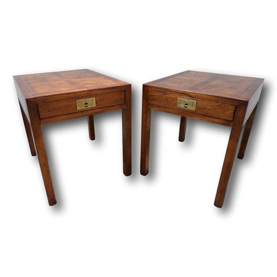 Pair Of Nice HENREDON French Country Style End Tables or Nightstand