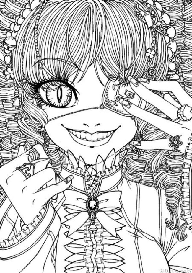 Colouring Pages for Goths coloring Pages Pinterest Gothic art
