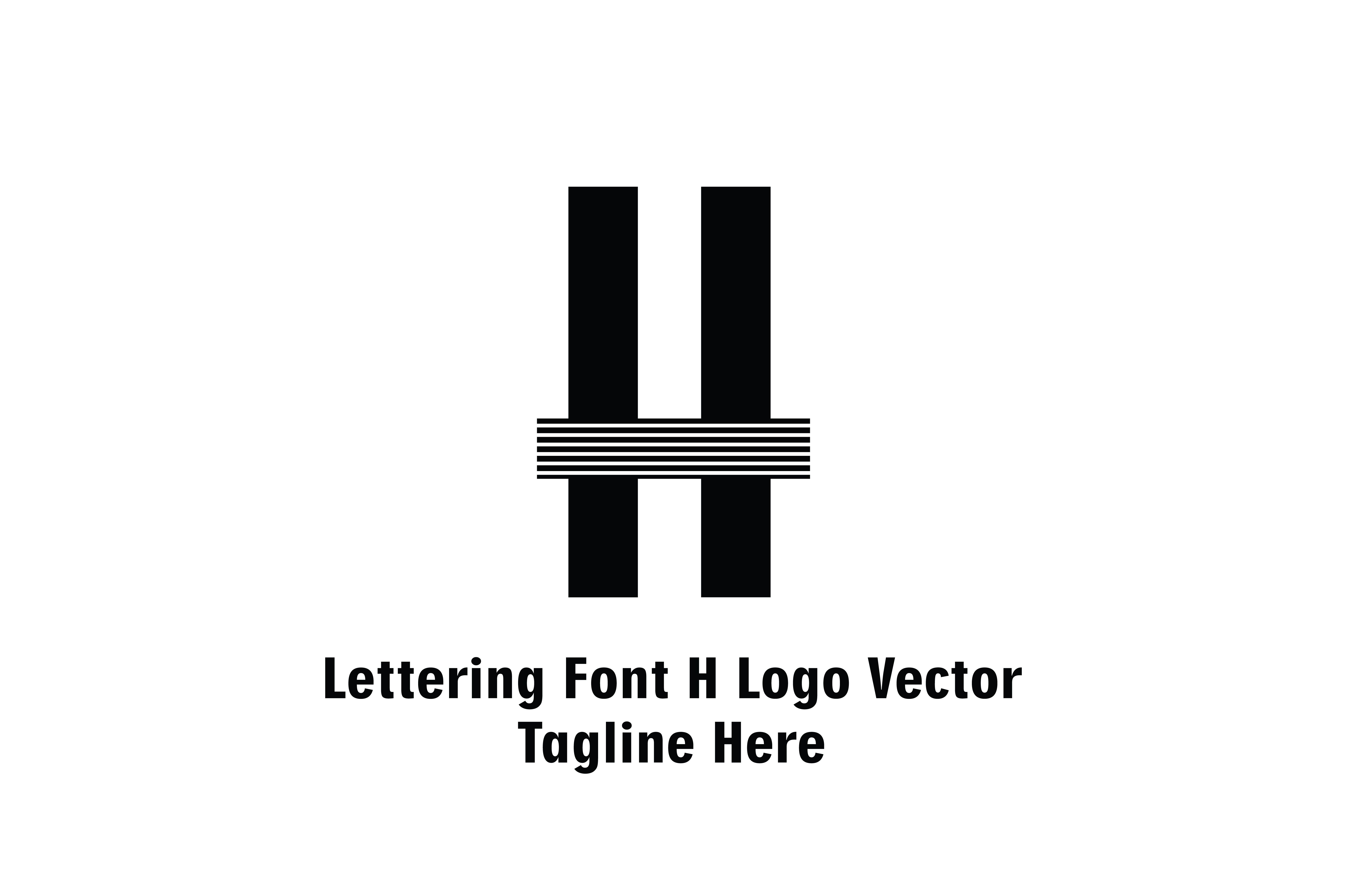 Lettering Font H Logo Vector (Graphic) by Yuhana Purwanti