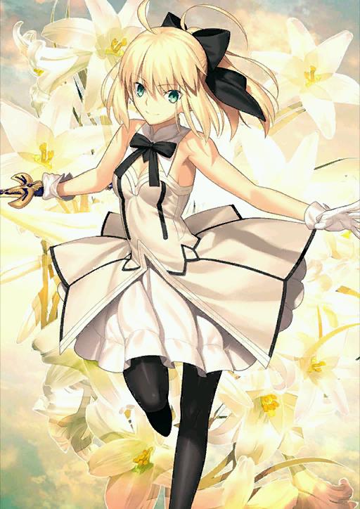 saber arthur pendragon lily fate pinterest lilies