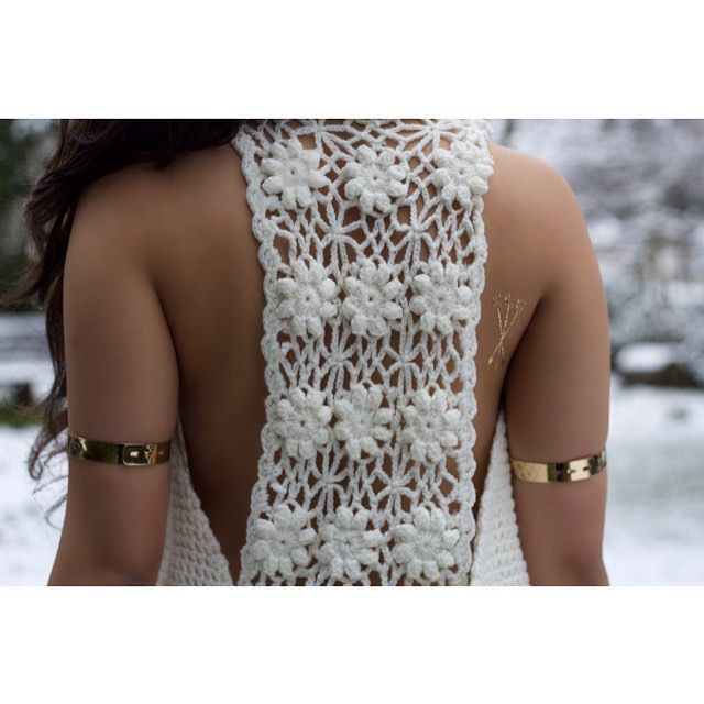 New Shoot - Focusing on those gold details #flashtattoo #armcuff  #crochet #lace #fashion #style #snow #blogging #showpo #back