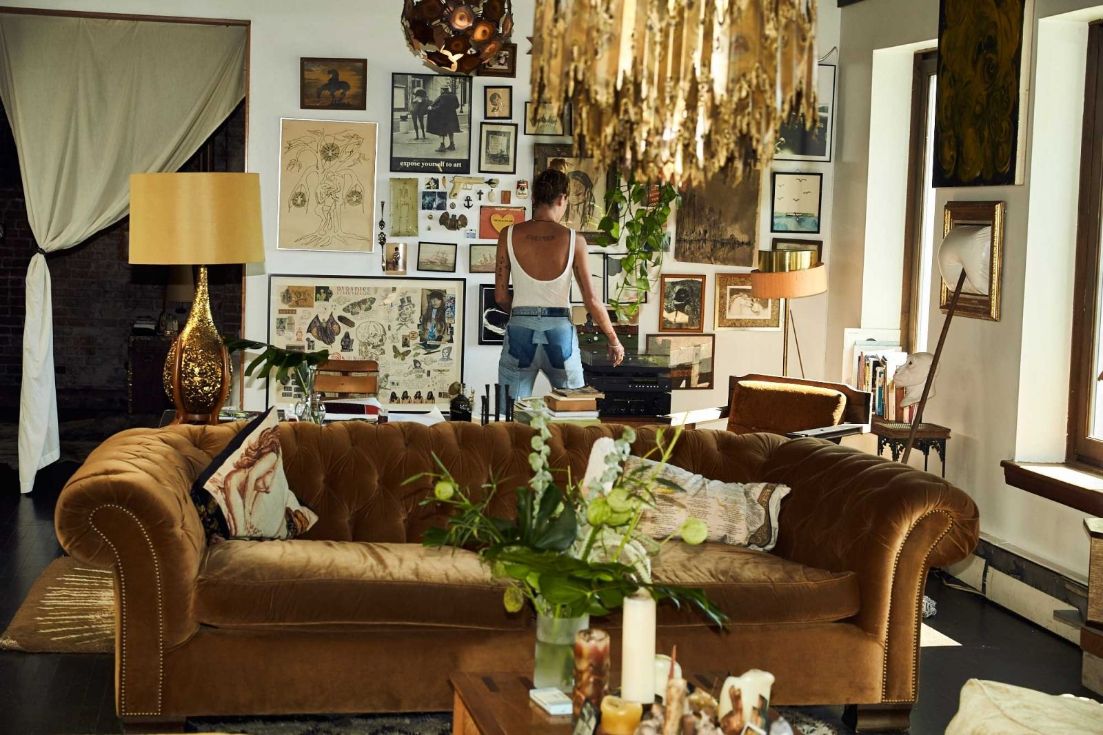 Erin Wasson The File Apartment Decor Dreamy Living Room Home Deco