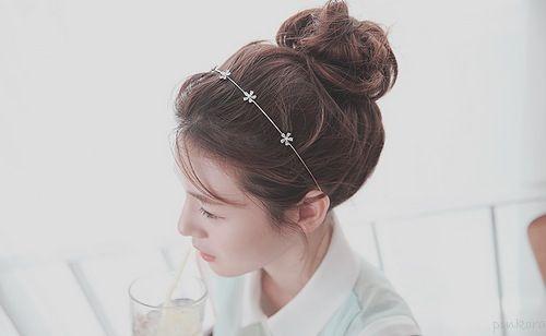 Cutie Bun Hairstyle Cute Asian Fashion Cute Buns Princess Hairstyles