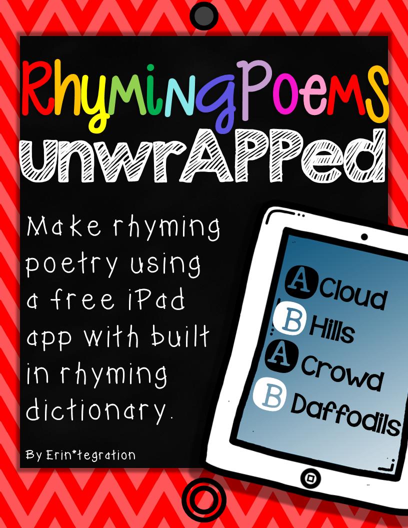 iPad Poetry - Create rhyming poems with 2 free apps   Kindergarten