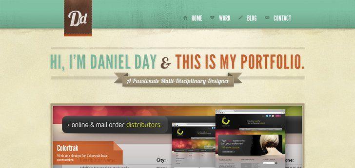 Http Portfolio Danielday Me Online Portfolio Design Portfolio Design Web Design