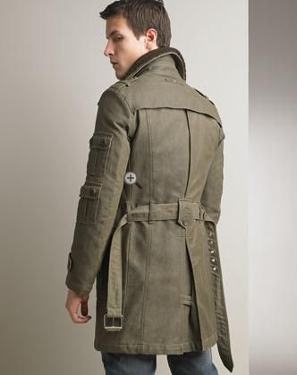 Forest green military coat. | Ropa | Pinterest