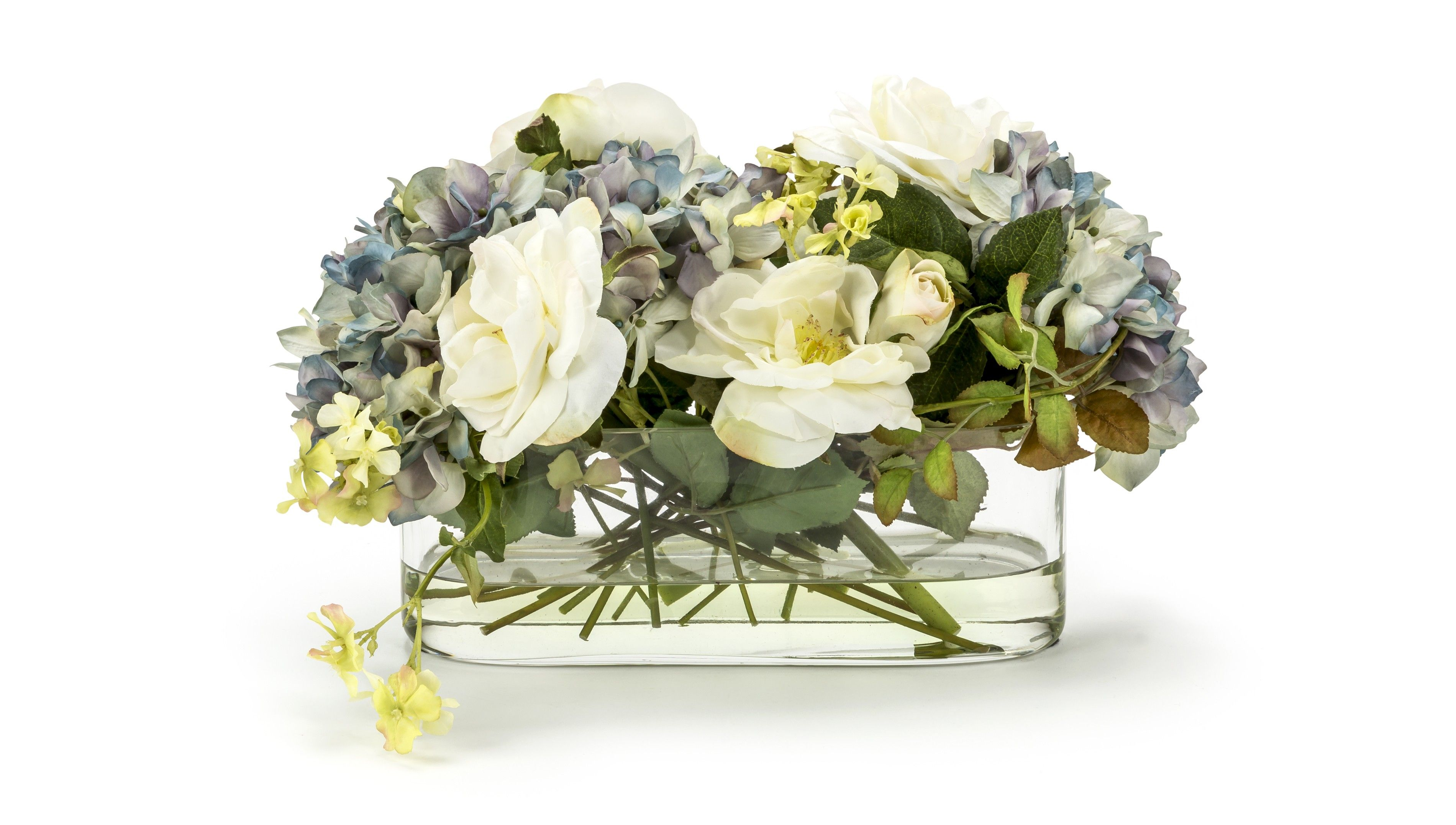 Faux Hydrangeas Roses Arrangement Online At Luxdeco Com Discover Luxury Collections From The Wo Faux Floral Arrangement Faux Hydrangea Floral Arrangements