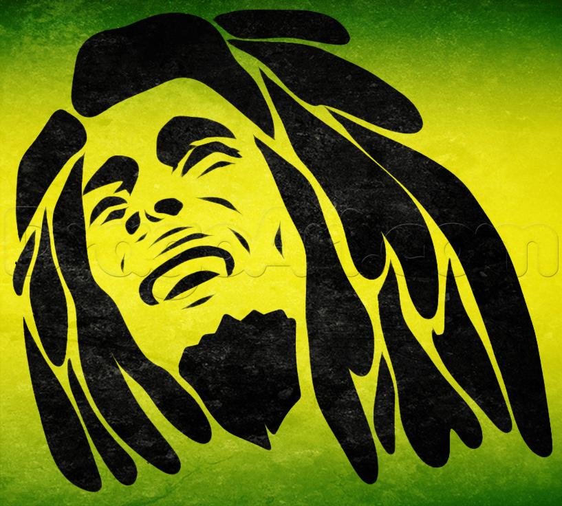 How To Draw Tribal Bob Marley Bob Marley Painting Bob Marley Drawing Images