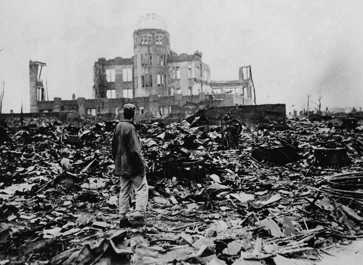 1940s- In 1945, The US dropped an atomic bomb on the Japanese city Hiroshima, some say which ignited the start of the Cold War. The atomic bomb development by the United States adds to the arms race for nuclear power between world powers including Soviet Union and Germany.