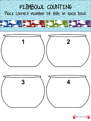 Give Children This Fishbowl Printable Have Them Count Out The