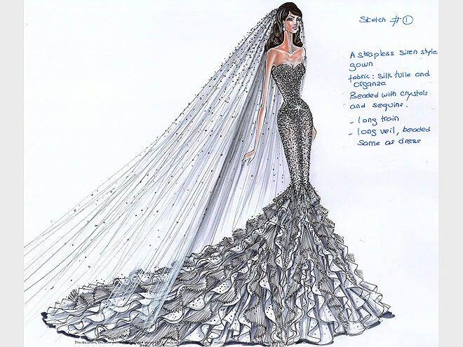 Wedding gown sketch   Zuhair Murad   Pinterest   Sketches, Fashion ...