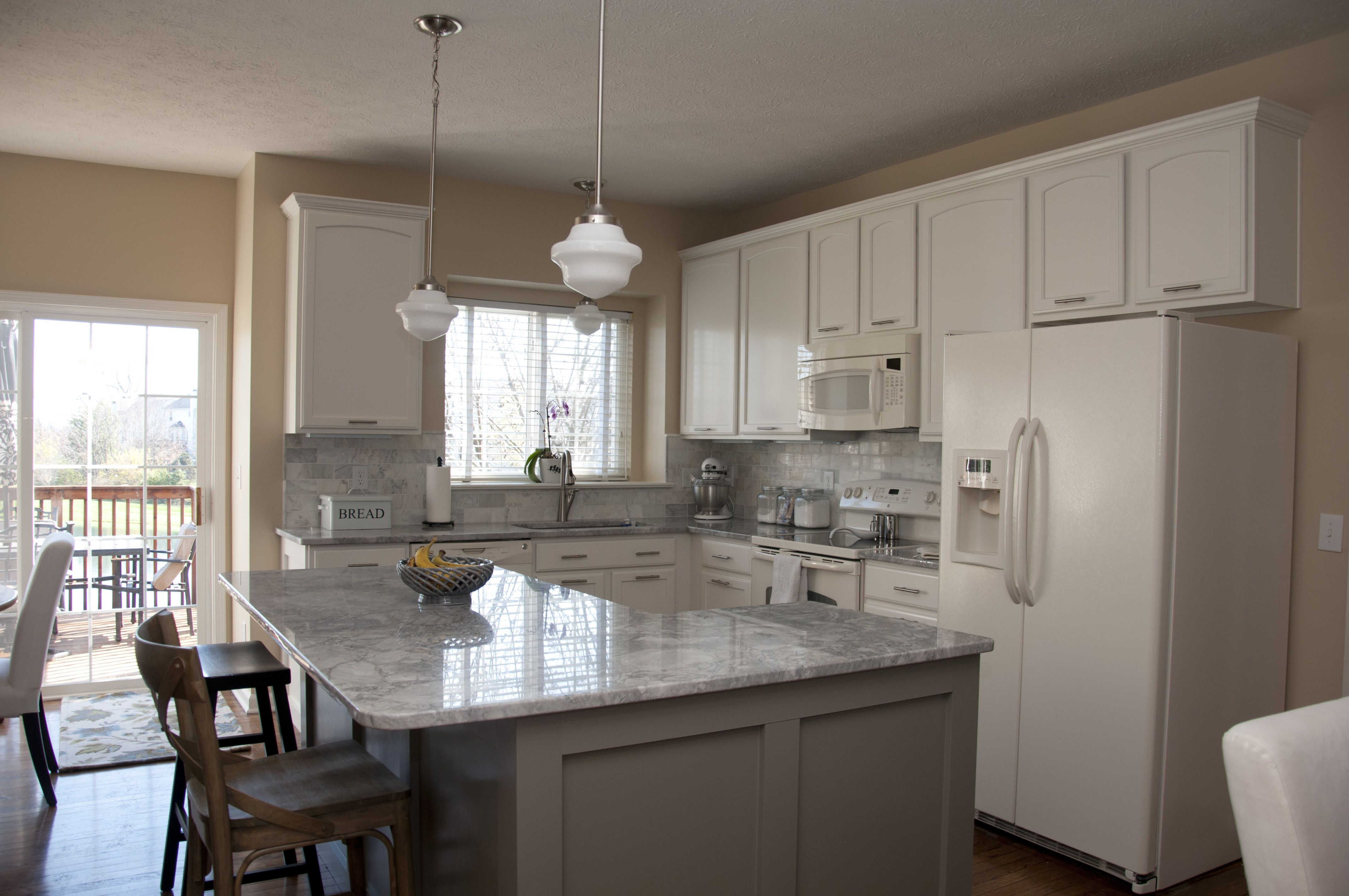 Behr Kitchen Cabinet Paint painted cabinets, replaced countertops, backsplash & fixtures