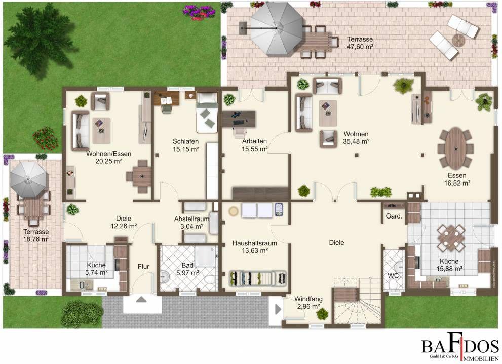 einfamilienhaus mit einliegerwohnung grundriss haus two generation pinterest. Black Bedroom Furniture Sets. Home Design Ideas