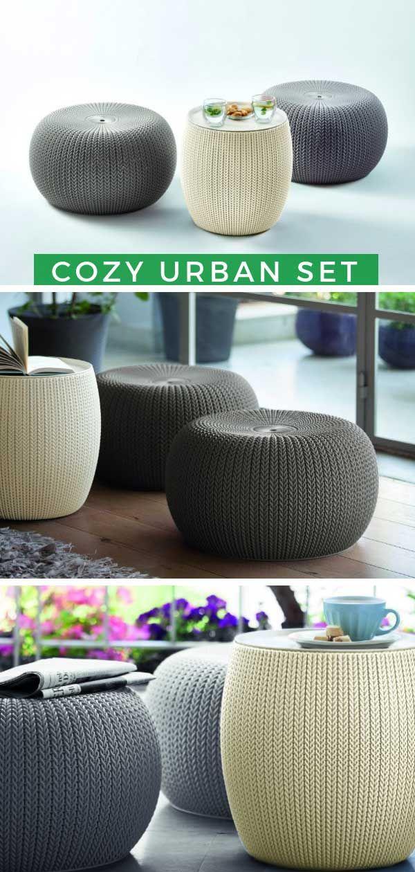 Gartenhaus Deko Innen Das Cozy Urban Set von Keter ist