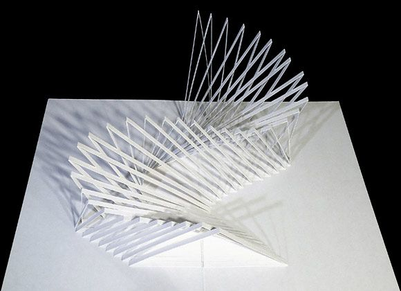 Paper pop up sculptures art cut paper art paper art for Arquitectura parametrica pdf