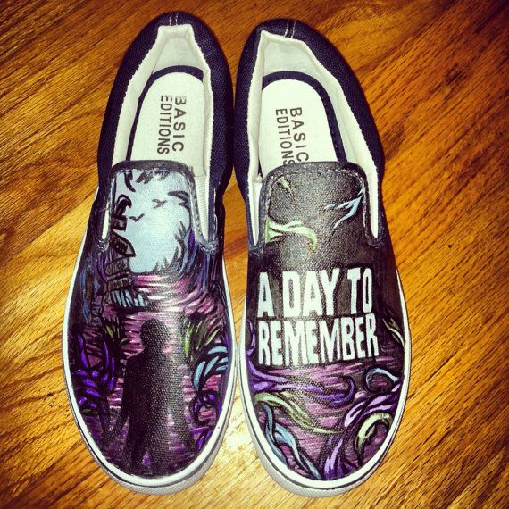 9886ecb1c6 A Day to Remember hand painted shoes by squirtleheart on Etsy ...